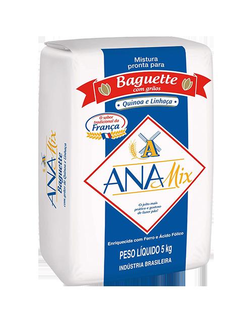 Mistura Pronta Anamix Baguette com Grãos