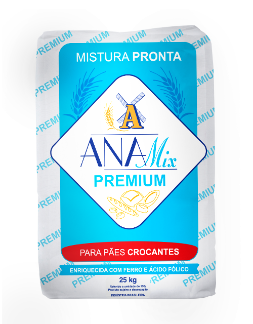 Mistura Pronta Anamix Premium para Pães Crocantes